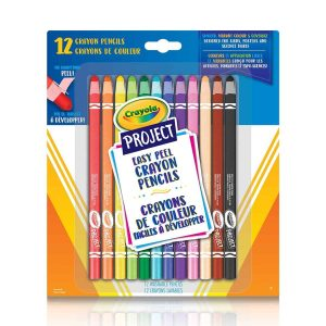12 Project Easy Peel Crayon Pencils- Curiosity-Box-Craft-and-Educational-Boxes-Kids-Monthly-Subscription-Box