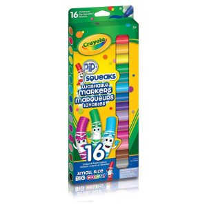 16 Pip-Squeaks Broad Line Washable Markers- Curiosity-Box-Craft-and-Educational-Boxes-Kids-Monthly-Subscription-Box