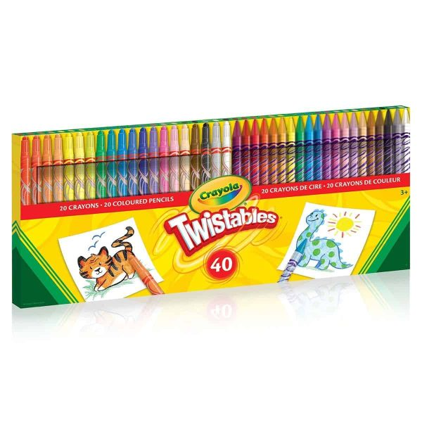 40 ct Twistable Crayon/Clrd Pencil Combo- Curiosity-Box-Craft-and-Educational-Boxes-Kids-Monthly-Subscription-Box