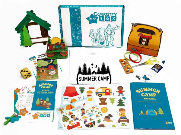 Camper Craft & Merch Box for Ages 5-12- Curiosity-Box-Craft-and-Educational-Boxes-Kids-Monthly-Subscription-Box