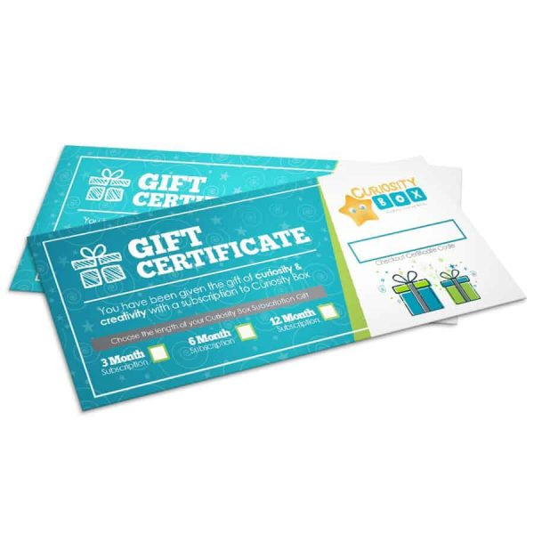 Curiosity Box Subscription Gift Card- Curiosity-Box-Craft-and-Educational-Boxes-Kids-Monthly-Subscription-Box