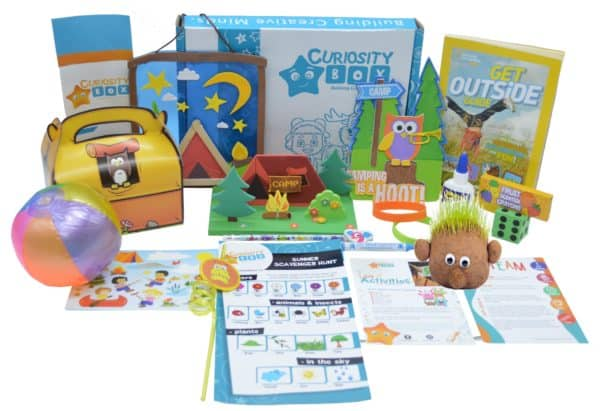 Summer Camper Craft Box for Ages 5-12- Curiosity-Box-Craft-and-Educational-Boxes-Kids-Monthly-Subscription-Box