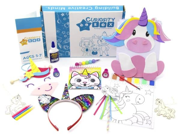 Unicorn Surprise Craft Box for Ages 5-7- Curiosity-Box-Craft-and-Educational-Boxes-Kids-Monthly-Subscription-Box
