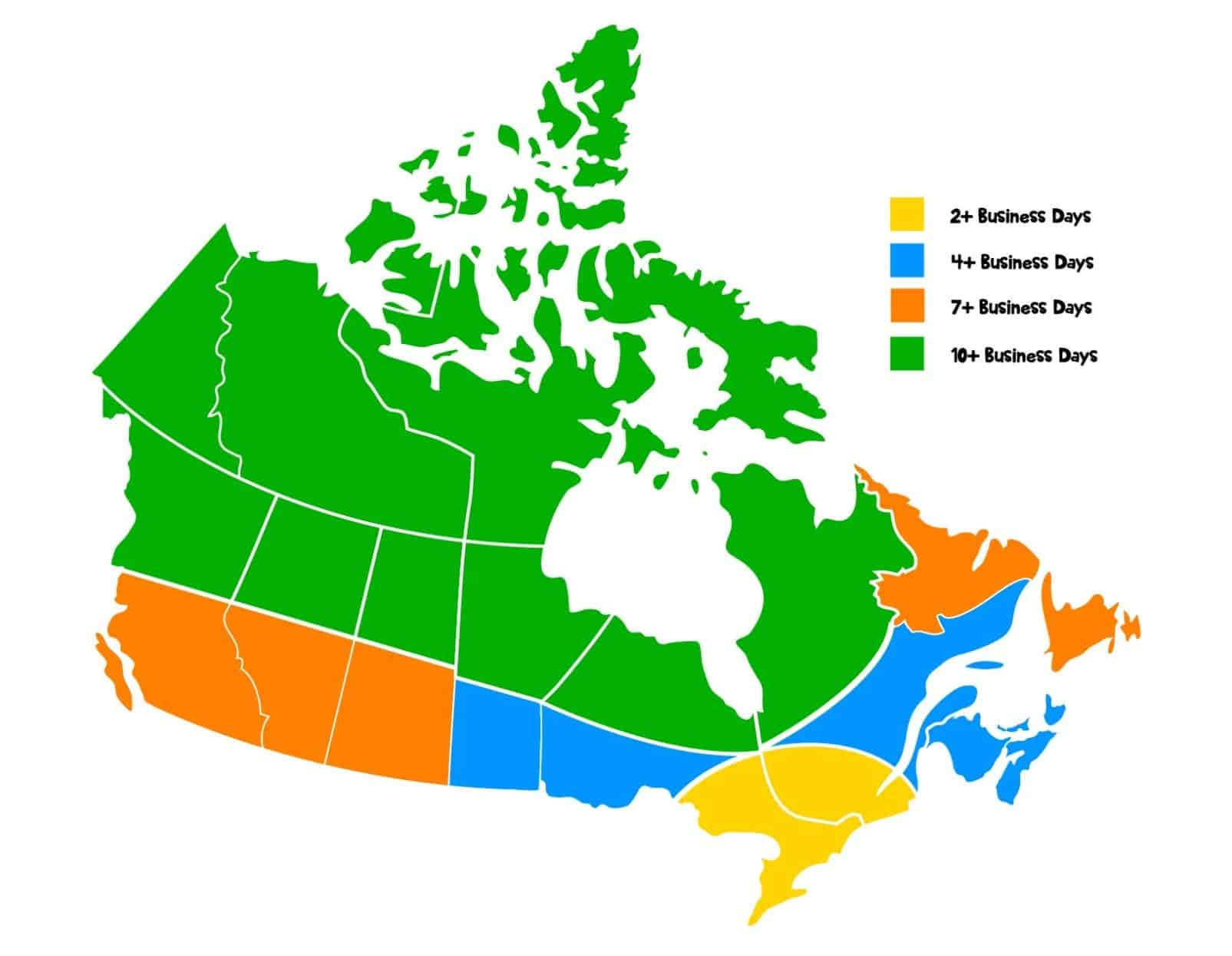 Canada Delivery Map