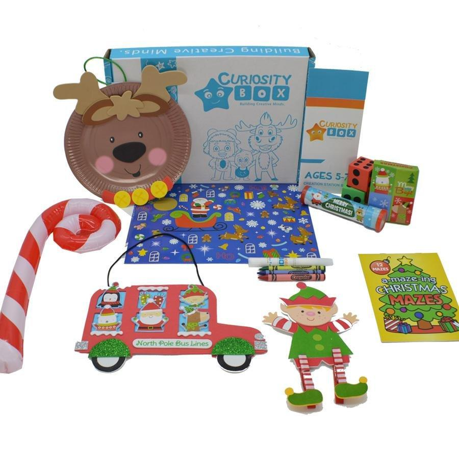 Christmas Time Craft Box Ages 5-7- Curiosity-Box-Craft-and-Educational-Boxes-Kids-Monthly-Subscription-Box
