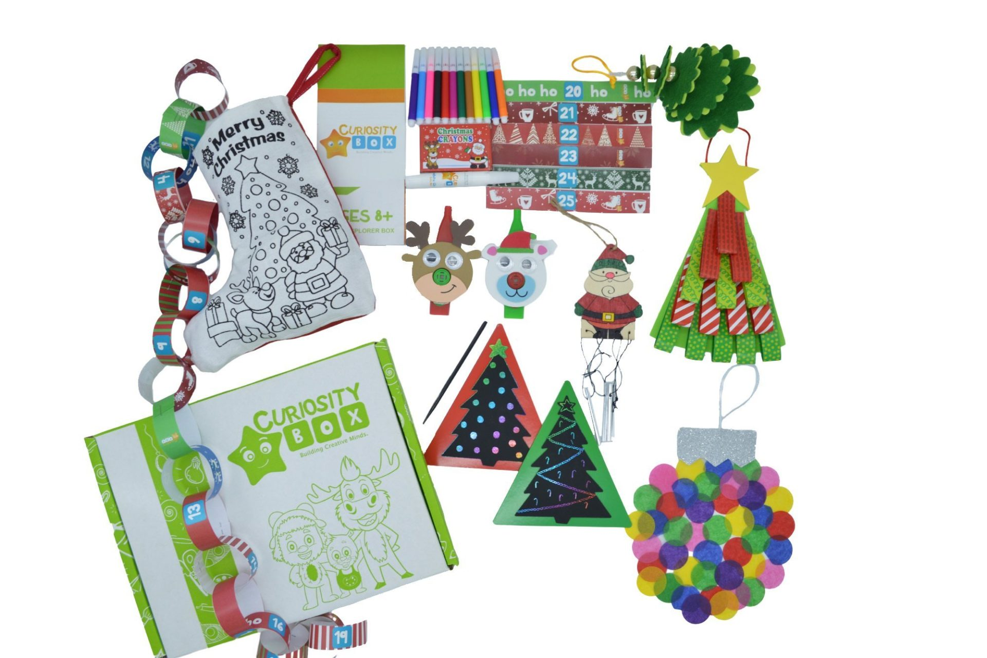 Crafty Christmas Countdown Craft Box for ages 8+- Curiosity-Box-Craft-and-Educational-Boxes-Kids-Monthly-Subscription-Box