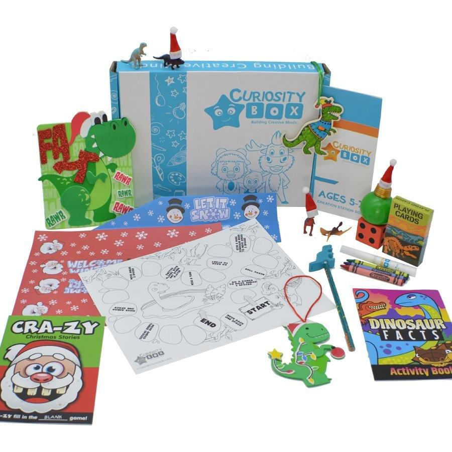 Diggin' Dino Christmas Craft Box for Ages 5-7- Curiosity-Box-Craft-and-Educational-Boxes-Kids-Monthly-Subscription-Box