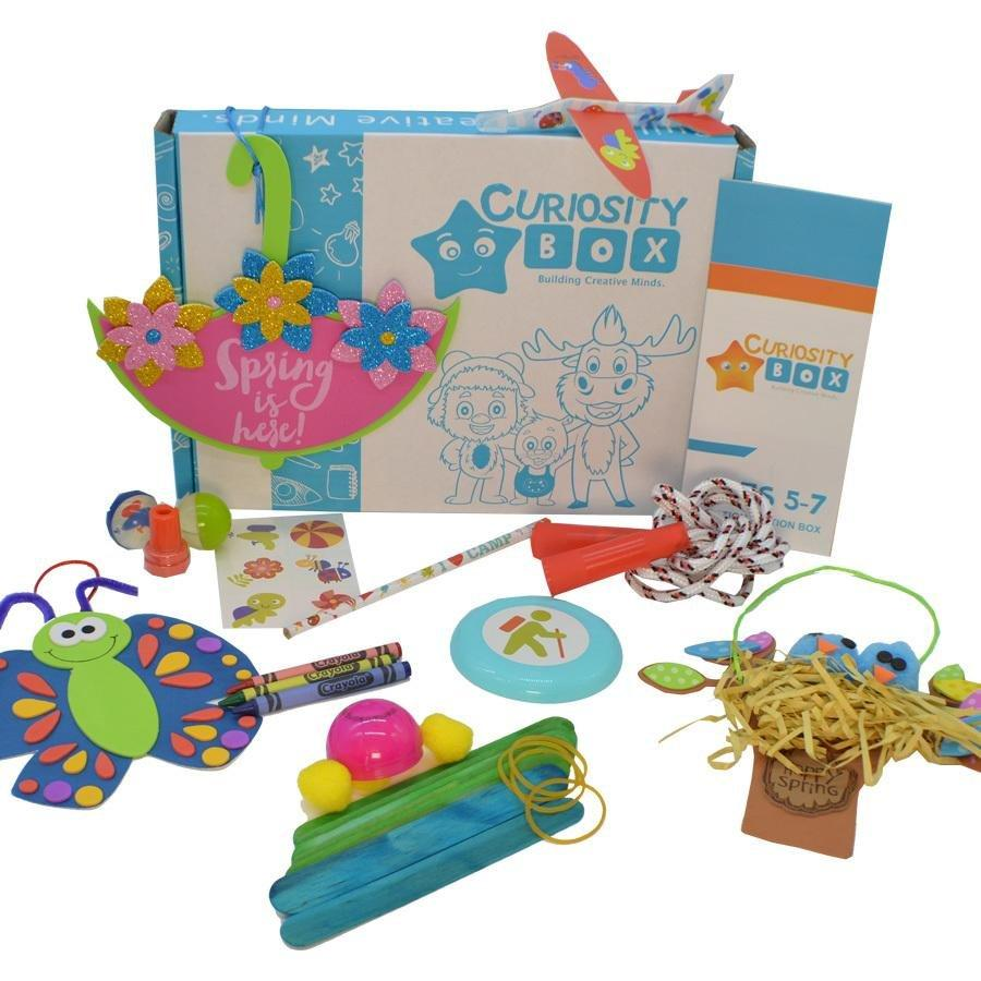 Happy Spring Craft Box for Ages 5-7 - Curiosity Box Kids - Monthly Kids Subscription Box