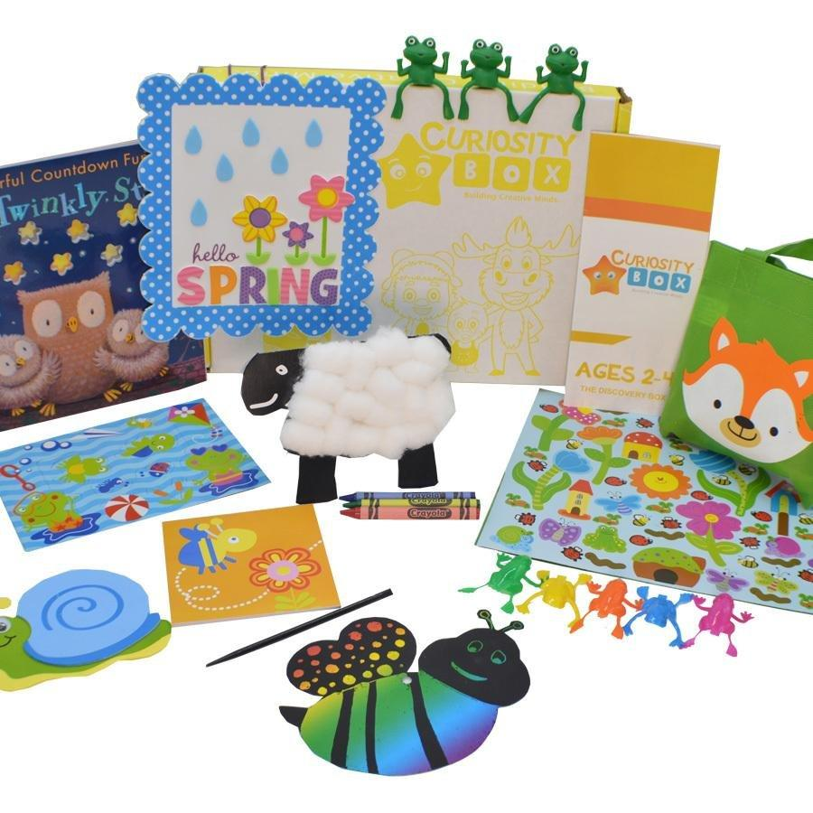Hello Spring Craft Box for Ages 2-4 - Curiosity Box Kids - Monthly Kids Subscription Box