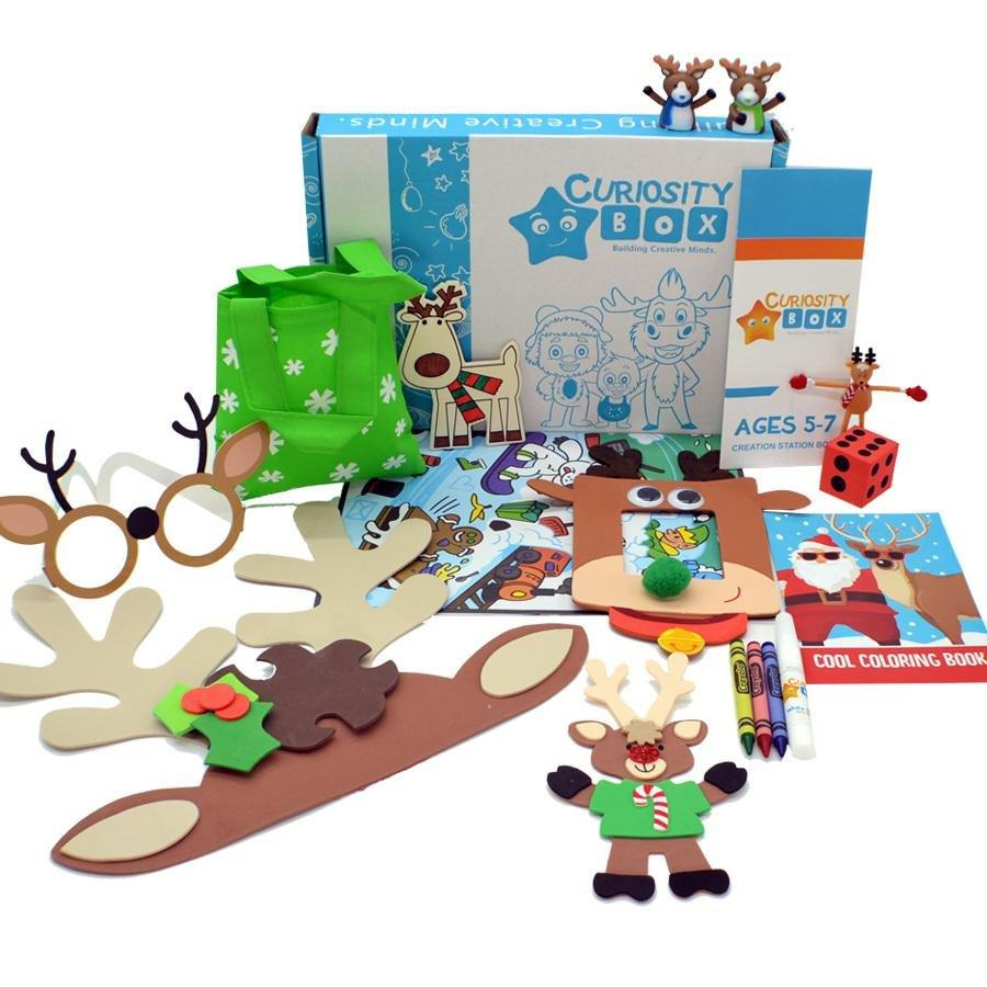 Reindeer Times Craft Box Ages 5-7- Curiosity-Box-Craft-and-Educational-Boxes-Kids-Monthly-Subscription-Box